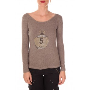 pull five col rond 1036 Taupe