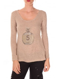 pull five col rond 1036 Beige