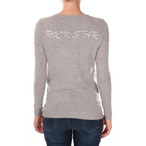 pull rock star 1027 Gris - 1 acheté = 1 offert