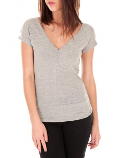 T-shirt dos cache coeur 017 Gris