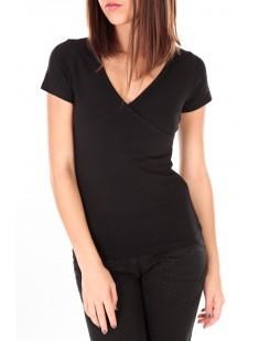 T-shirt basic cache cœur 23E-14 Noir