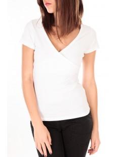 T-shirt basic cache cœur 23E-14 Blanc
