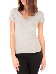 T-shirt basic cache cœur 23E-14 Gris
