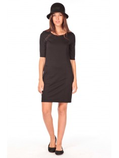 LYNETTE 2/4 POCKE DRESS  Noir