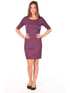 LYNETTE 2/4 POCKE DRESS  Violet - vetement femme