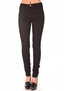 JEAN WONDER DENIM JEGGING Noir - vetement femme
