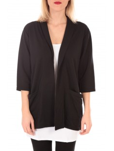 STACIA 3/4 CARDIGAN KM Noir - vetement femme