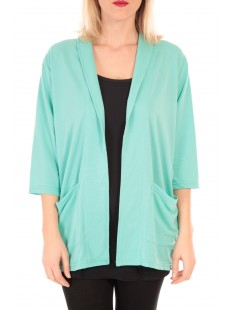 STACIA 3/4 CARDIGAN KM Vert - vetement femme