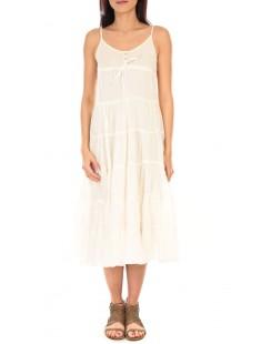 robe d'été brodé fine bretelle 7097 Écrue