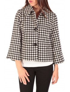 ODA Short Jacket Noir/Blanc