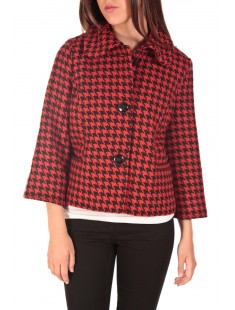 ODA Short Jacket Noir/Rouge