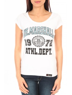T-Shirt Official US Marshall FT126 Blanc