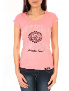 T-Shirt Official US Marshall FT110 Rose