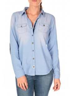 Fitted chambray blouse - vetement femme