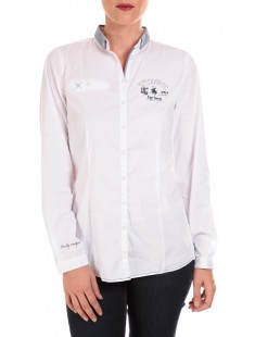 NICE SOLID POLO BLOUSE - vetement femme
