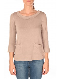 Cute a-shape sweater Beige - vetement femme