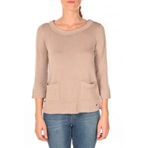 Cute a-shape sweater Beige