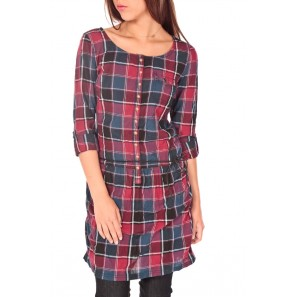 Flanell Dress Color Rouge