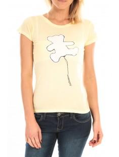 T-Shirt Pics Printe Ours Jaune