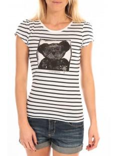 T-Shirt Liss Rayure Blanc