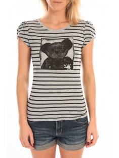 T-Shirt Liss Rayure Gris