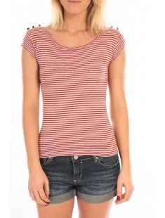 T-Shirt Jeny Rayé Rouge