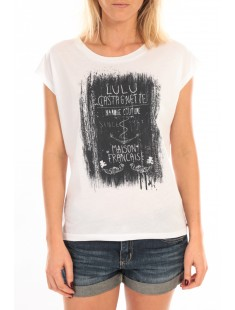 Top Luna Print Blanc