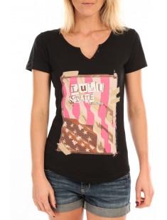 T-Shirt Mimi Flamme Print Noir