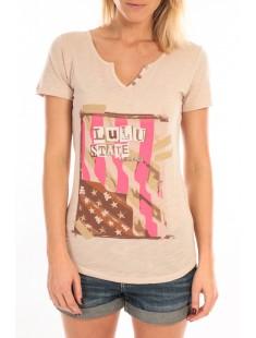 T-Shirt Mimi Flamme Print Beige