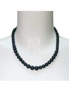 Collier Boules Noires 203341Noir - vetement femme