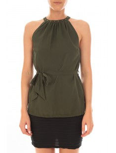 Top ASHLEY S/L Kombu Green - vetement femme