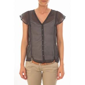 Chemisier AGNES S/S Shirt Mix Asphalt