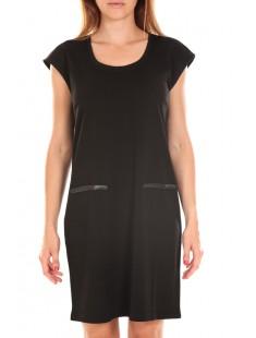 SHORT DRESS CELINA S/L Black - vetement femme