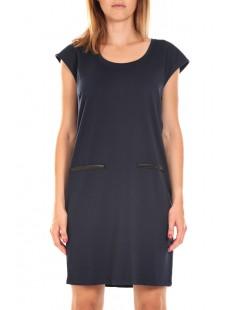 SHORT DRESS CELINA S/L Asphalt Marine