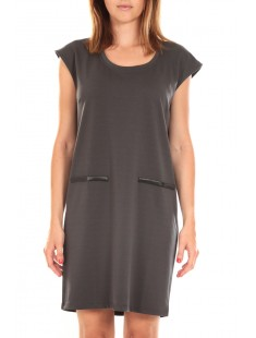 SHORT DRESS CELINA S/L Peacoat Gris - vetement femme