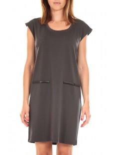 SHORT DRESS CELINA S/L Peacoat Gris - vetement femme