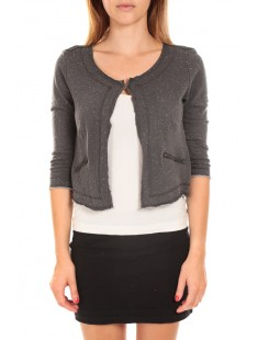 WILIANA 3/4 BLAZER Asphalt/W. White Anthracite - vetement femme