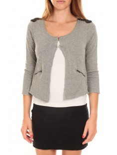 WILIANA 3/4 BLAZER Light Grey Mela/W Gris - vetement femme