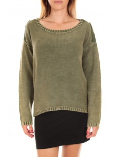 ARMY LS O-NECK Chive Vert - vetement femme