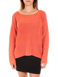 ARMY LS O-NECK Poinciana Orange - vetement femme
