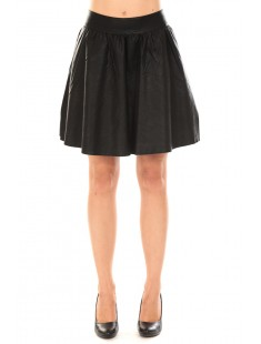 JANICE SHORT PU SKIRT Black - vetement femme