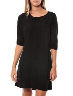 DRESS LEAH 3/4 SHORT EX7 Black/PLAIN - vetement femme
