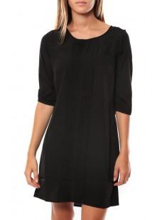 DRESS LEAH 3/4 SHORT EX7 Black/PLAIN - vetement femme