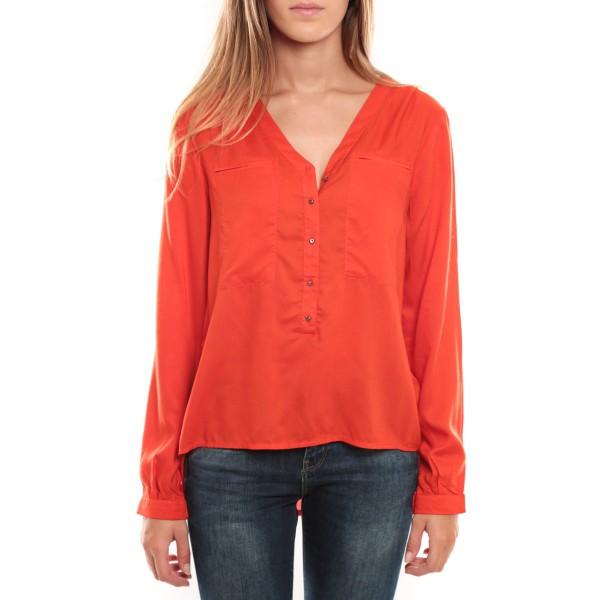 réflexions sur enfant style de mode Horse LS Top Orange - vetement femme