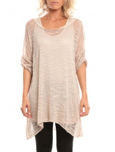 Tunique Atomika B filet long Beige - vetement femme