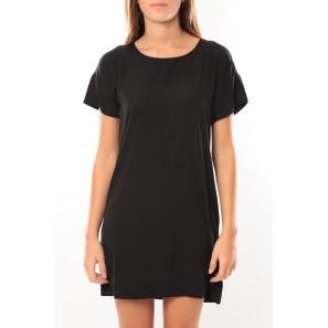 Reba ss mini dress 10100945 Noir/Saumon