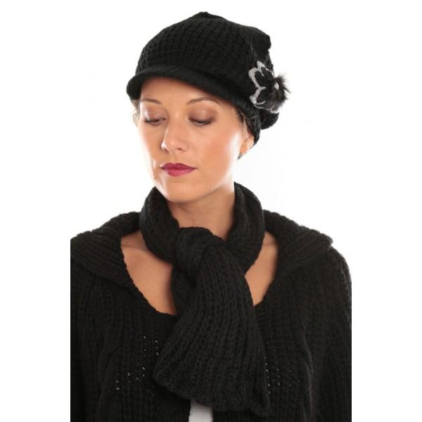 fringagogo accessoires femme pas cher accesoires femme d s 3 ensemble bonnet echarpe bonnet. Black Bedroom Furniture Sets. Home Design Ideas