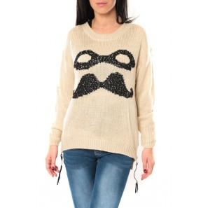 Pull Moustache C320 Écru