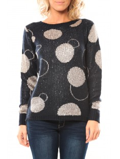 Pull Ky Creation 10ME56 Marine - vetement femme