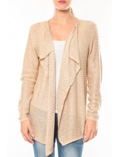 Gilet Wind Fashion 8E8307 Beige - vetement femme